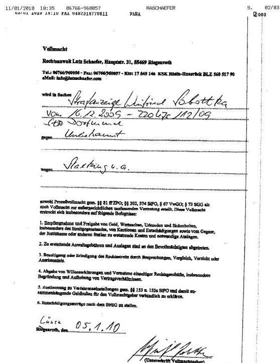 rechtsanwalt lutz schaefer riegenroth zu meiner vertretung in das ermittlungsverfahren 220 ujs 11209 mit zweiseitigem schriftsatz anschreiben plus - Anschreiben Rechtsanwalt